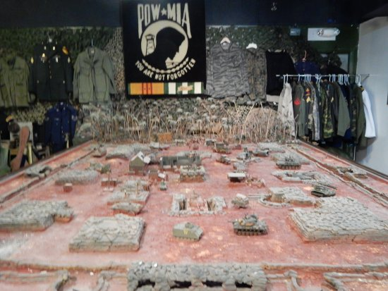 Model of a fire base - Picture of National Vietnam War Museum