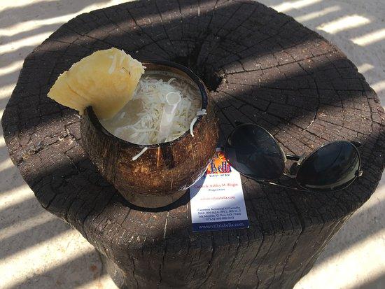 Villa La Bella: Amazing Pina Colada -- fresh shaved coconut on top.