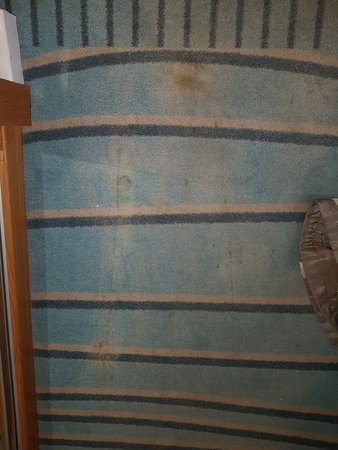 South Cerney, UK: Carpet stained and dirty