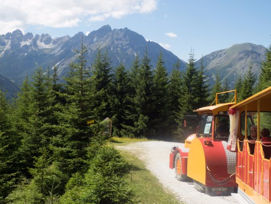 Mieders, Austria: The land train through the forest