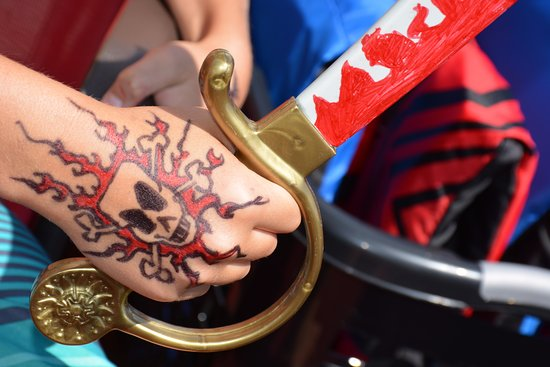 Eagle River, WI: On the public tours each child receives a custom tattoo from Captain Steve!