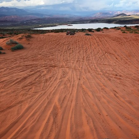 Hurricane, UT: We spent part of the tour on the sand dunes near Sand Hollow State Park.