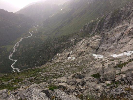 Gletsch, Switzerland: Los primero metros del Ródano
