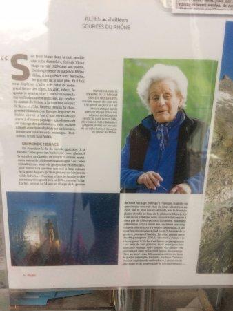 Gletsch, Ελβετία: La señora Sophie