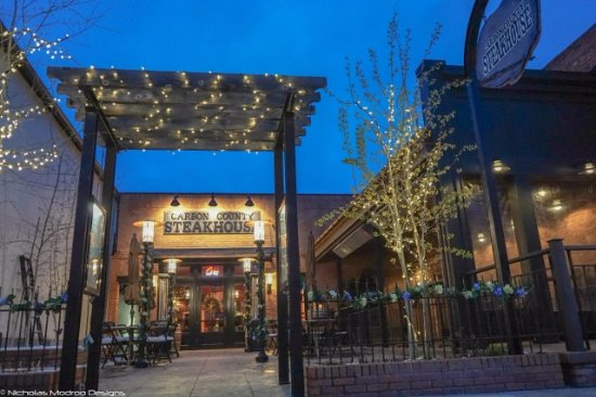 Red Lodge, MT: Summer Patio seating available Memorial Day - Labor Day