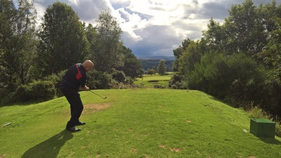 Dunkeld, UK: The eighteenth hole