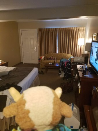 Holiday Hill Inn & Suites: Nice sized room, King bed, sofa. upper level