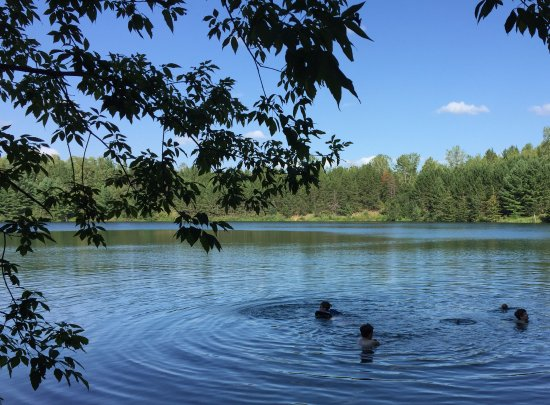 Ironton, MN: picturesque little lake a short walk from the yurts