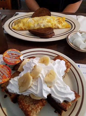 West Dennis, MA: banana bread french toast special