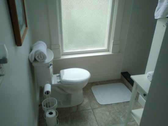 Goshen, IN: bathroom and shower are clean and updated