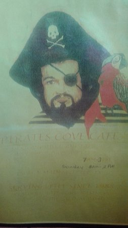 Lytle, TX: Menu cover for Pirate's Cove