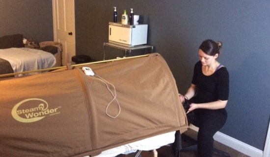 Westford, MA: Client receiving a Body Wrap