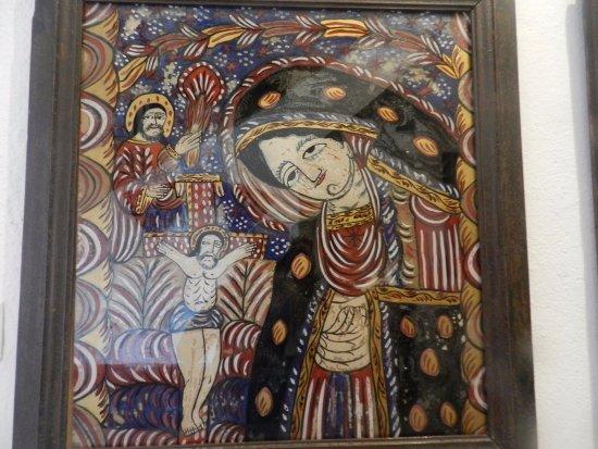 Sibiel, Romania: Altra icona su vetro