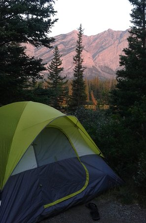Bow Valley Campground: Sunrise from our campsite