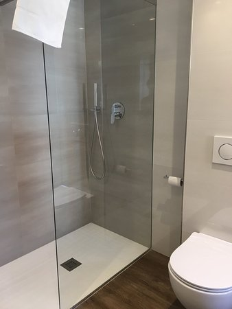 Bagno , doccia , zona letto - Picture of Grand Hotel Liberty, Riva ...
