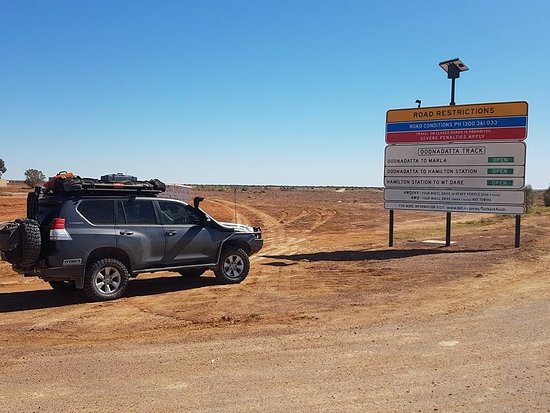 Oodnadatta, Australia: Make sure you check Road condition signs before leaving these outback towns