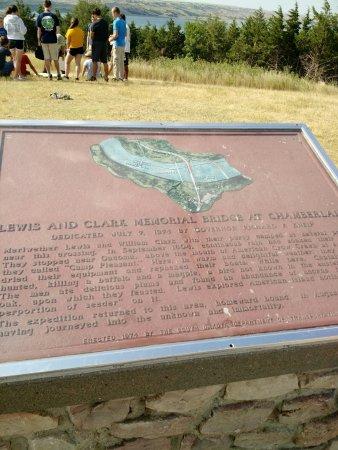 Chamberlain, Dakota do Sul: Sign overlooking Missouri Basin