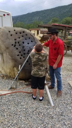 Idaho Springs, CO: Trying out and old rock drill