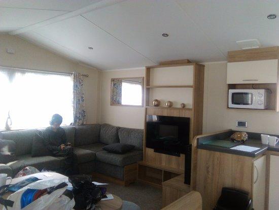 Winchelsea, UK: Living space in caravan