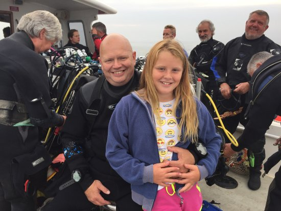 West Bay, UK: Ready to dive with boat cover!!