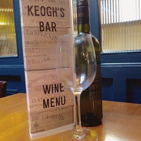 Kinvara, Ireland: Keoghs wine menu... something so suit everyone's taste.