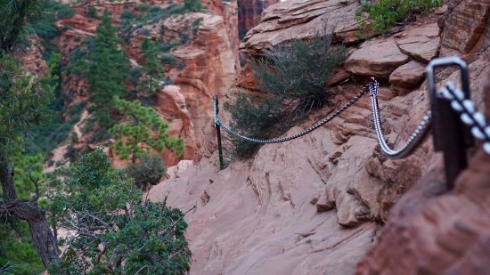 Angel's Landing: Path with chains. This is the easiest one I came across.