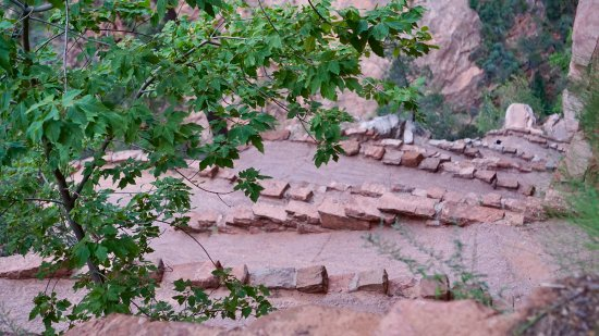 Angel's Landing: The tight, switchbacks before Scout's Landing - a pedestrian Lombard Street,