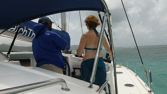 Jolly Harbour, Antigua: On the way to Cades Reef.