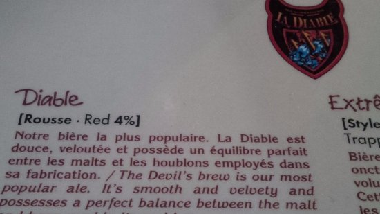 Microbrasserie La Diable: Try This Beer