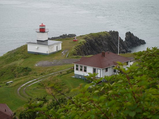 The Lighthouse on Cape d'Or: View from the path down to the restaurant