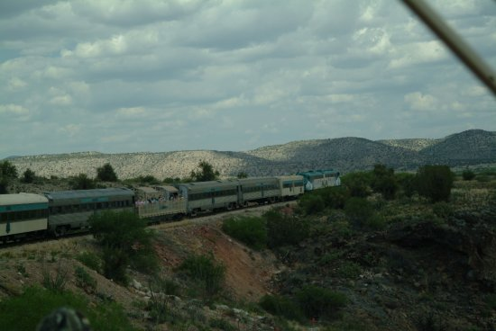 Verde Canyon Railroad: The train heads into the valley.