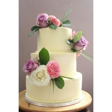 Stunning Fresh Flowers Wedding Cake Picture Of Bakery Delights