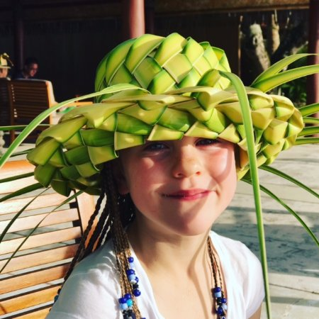 Toberua Island, Fidżi: Stunning coconut woven hat made on the island under the kind, patient and generous tutorial of s