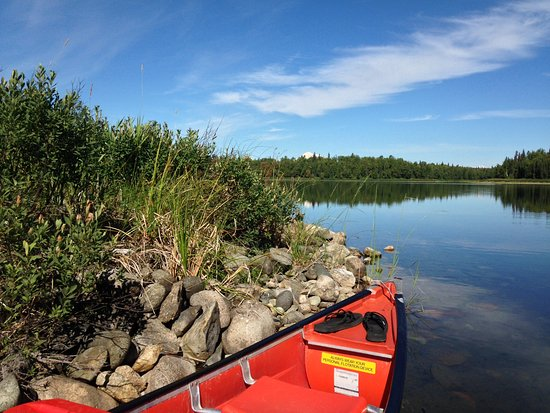 Talkeetna, AK: Canoe exploring around XY Lake