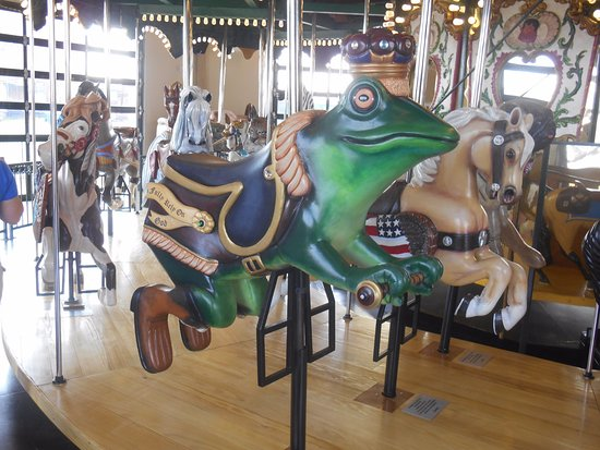 Frog Prince & horse on Kingsport Carousel