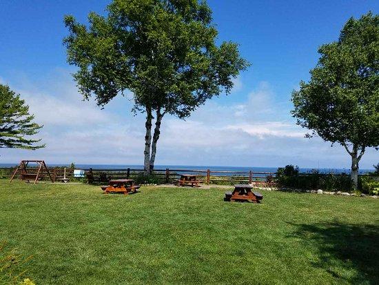 Cross Village, MI: Gorgeous view of lake