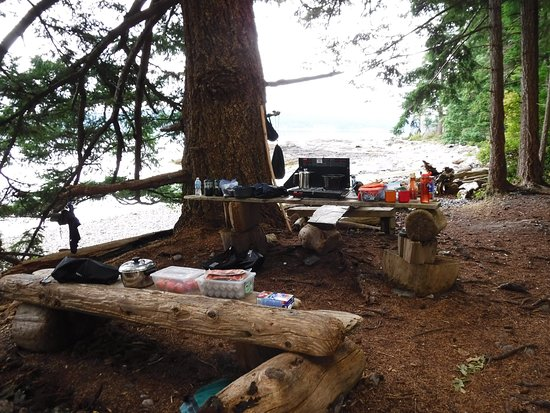 Black Creek, Canada: Kitchen set-up the first evening/morning