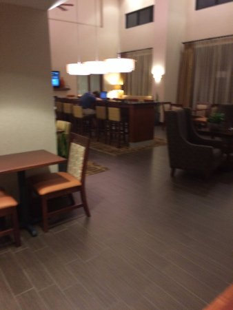 Hampton Inn & Suites - Opelika: Bkfst area; not sure if this is the night attendant, but nobody was at desk.