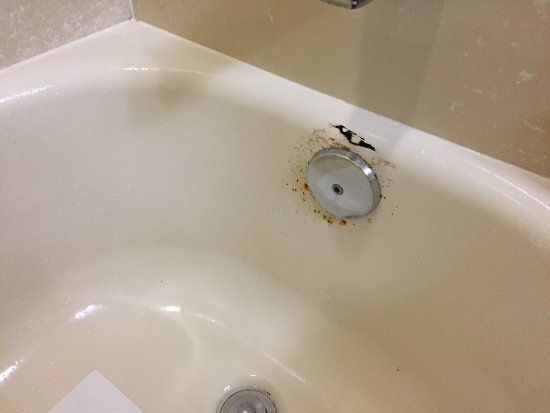 North Bergen, NJ: The bathtub is covered in rust; so gross