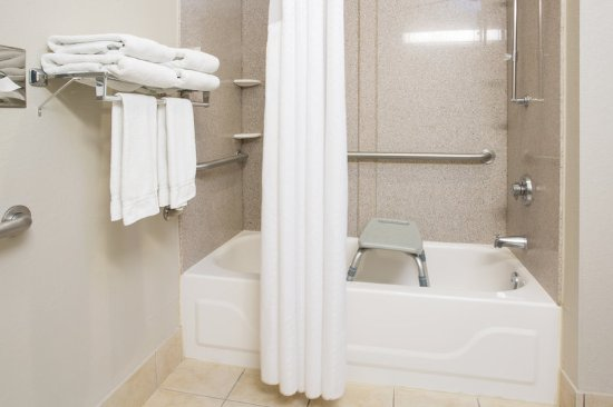 Holiday Inn Express Tell City: ADA/Handicapped accessible Guest Bathroom with mobility tub