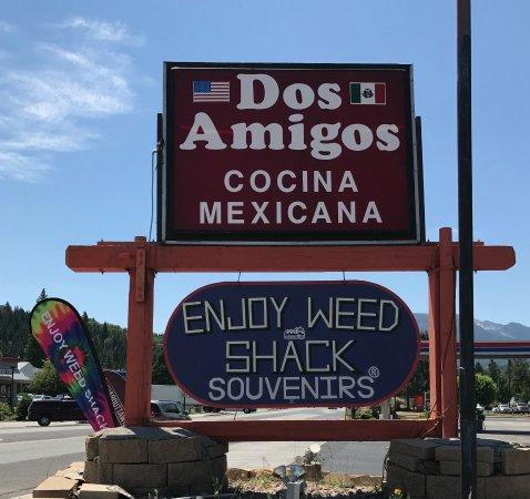 Weed, Kalifornien: Restaurant sign