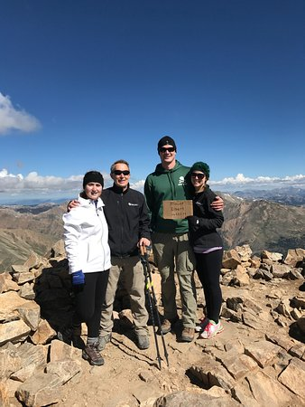 On top of Mt Elbert after 2 nights at the Twin Lakes Inn.