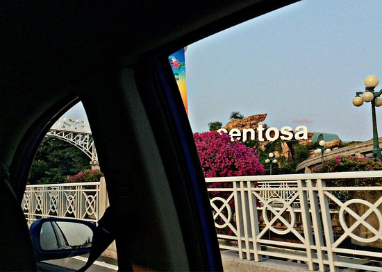 Amara Sanctuary Resort Sentosa: Picture taken from the car while entering the island