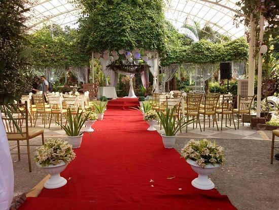 Luisita Central Park Hotel Garden Ceremony Set Up For Weddings