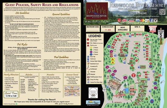 Leggett, Kalifornia: 2017 Campground Map