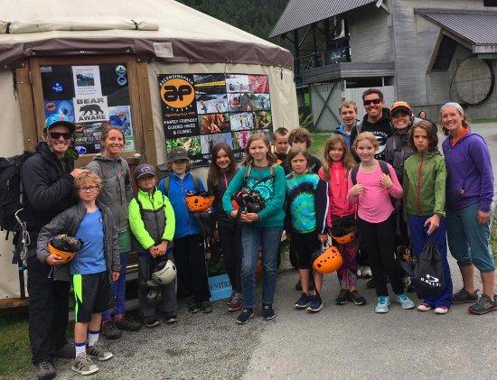 Girdwood, AK: Four Valleys Community School group rock climbing with Ascending Path