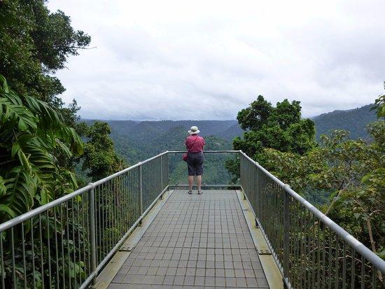 Innisfail, Australia: The cantilever section of the skywalk