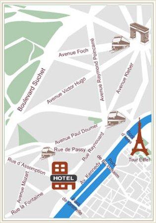 Eiffel Kennedy Hotel: MAP