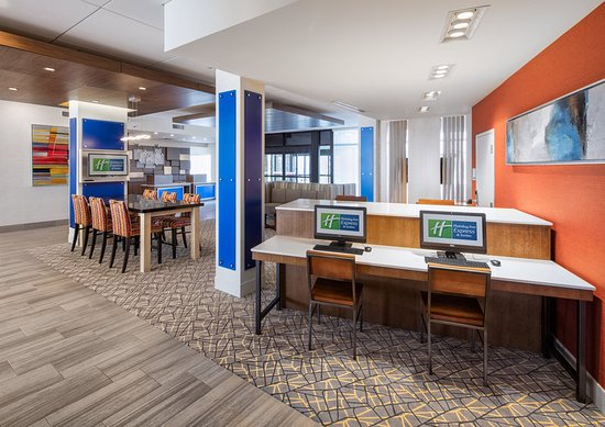 Stay connected!  Stay at the Holiday Inn Express East Peoria!!