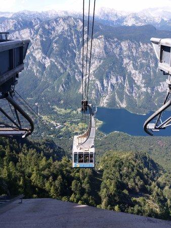 Bohinjsko Jezero, Slovenien: Sky Lift go down